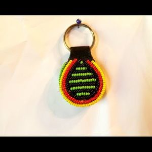 COPY - Beaded key chain is hand made by a tribe i…